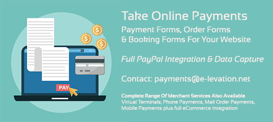 Payment Forms, Booking Forms & Order Forms with PayPal Payments