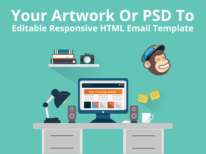 PSD To Responsive MailChimp Template Elevationnet - Mailchimp psd template